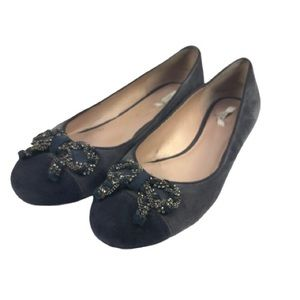 Geox Lola Grey and navy suede flat
